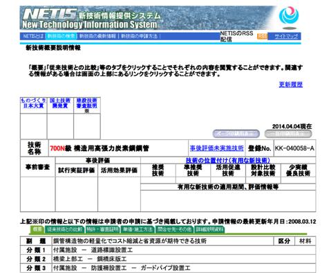 [JP][Blog]NETIS登録画面STX